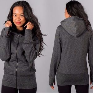 Betabrand • Grey Knockout Travel Hoodie L